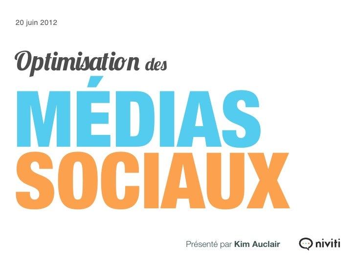 Formation : Optimisation des médias sociaux