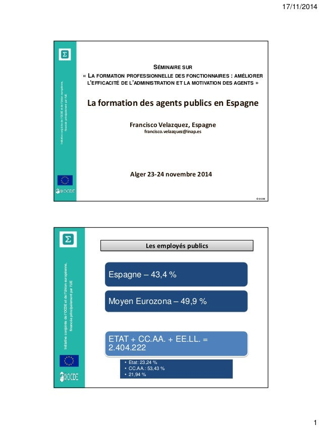17/11/2014  1  © OCDE  Initiative conjointe de l'OCDE et de l'Union européenne, financée principalement par l'UE  SÉMINAIR...