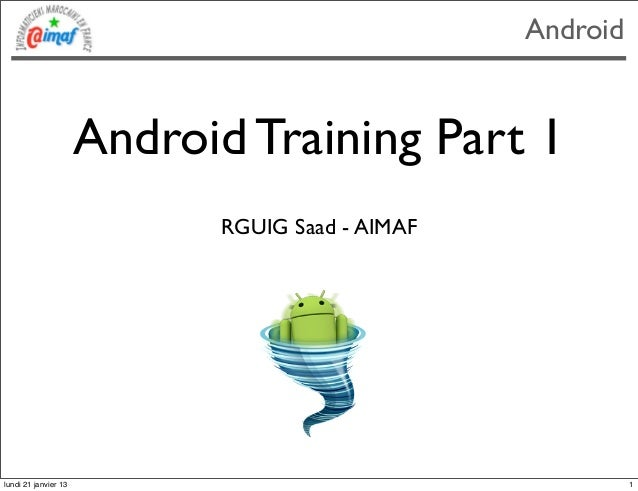 Formation aimaf-android-part1
