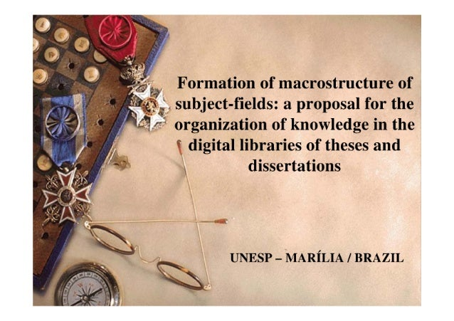 Formation of macrostructure of subject-fields: a proposal for the organization of knowledge in the digital libraries of th...