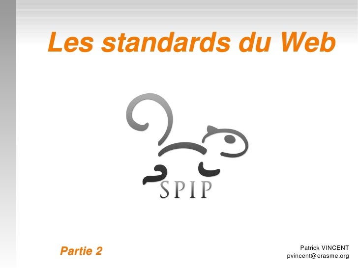 Formation - P2 - Standards du Web
