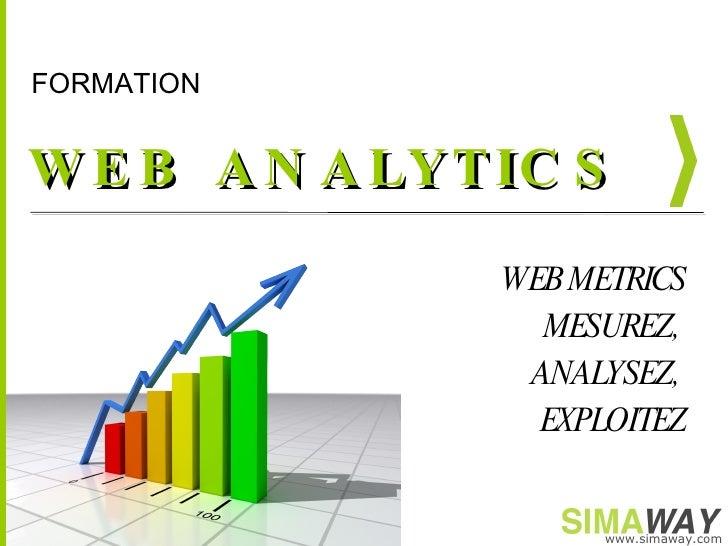 WEB ANALYTICS WEB METRICS MESUREZ,  ANALYSEZ,  EXPLOITEZ