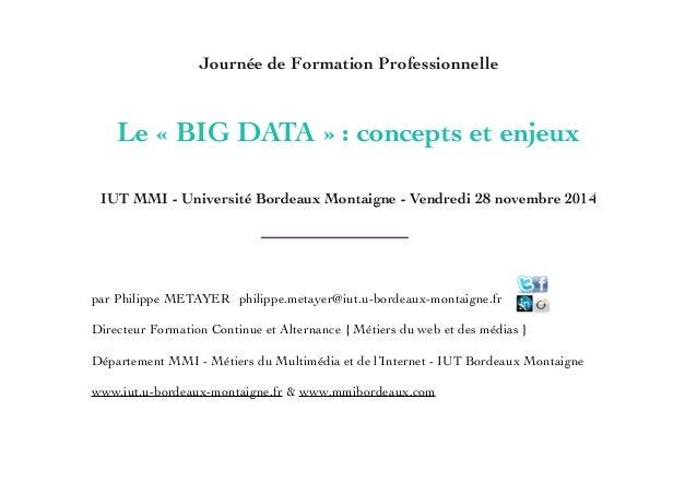 par Philippe METAYER  philippe.metayer@iut.u-bordeaux-montaigne.fr  ! Directeur Formation Continue et Alternance { Métie...