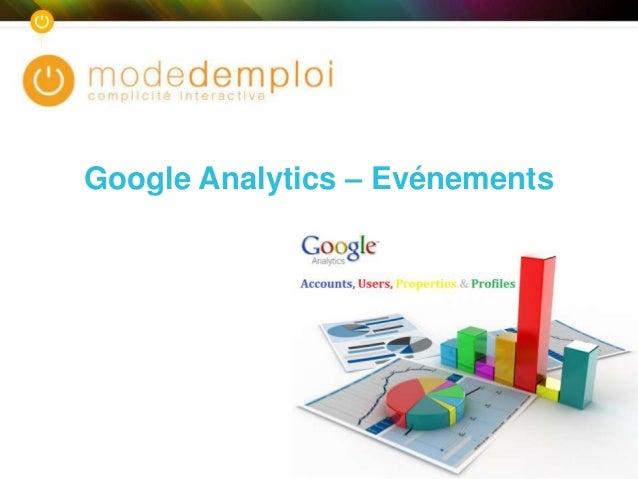 Formation google analytics - Configuration des evénements