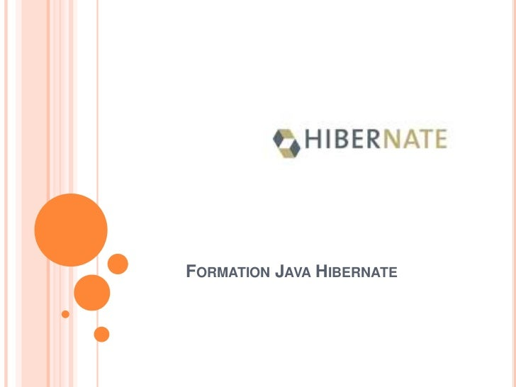 Formation Java Hibernate<br />