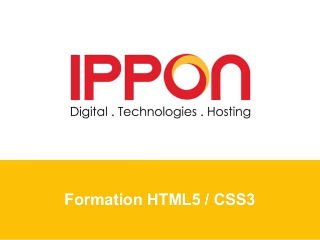 Formation HTML5 / CSS3