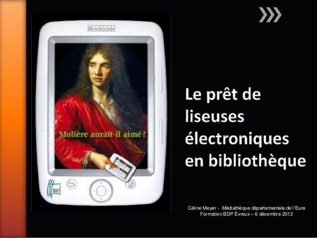 Le prêt de liseuses électroniques en bibliothèque