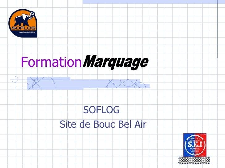 SOFLOG  Site de Bouc Bel Air Formation Marquage