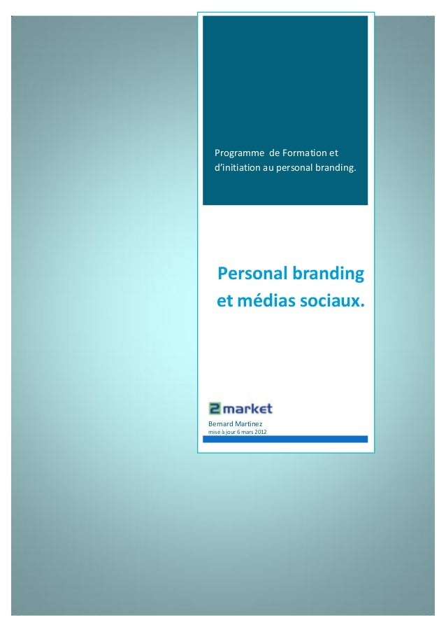Formation marque personnelle