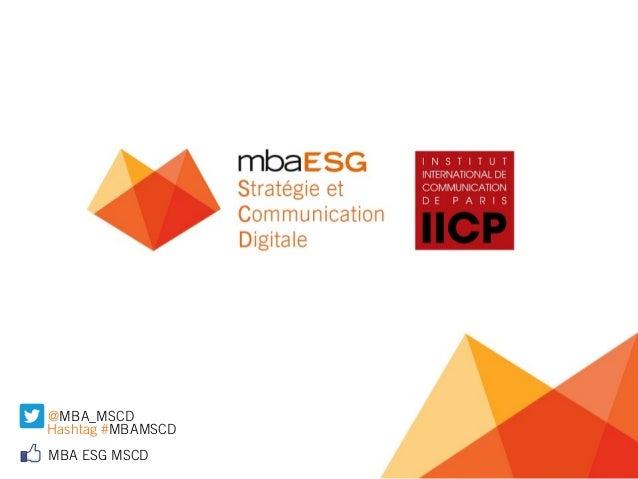 Formation - MBA ESG IICP Stratégie et Communication Digitale 2014 - Titre certifie Niveau 1 Expert Digital