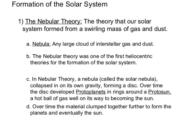 Formation of solar system diagram and explanation of steps page 3 formation of solar system ccuart Image collections