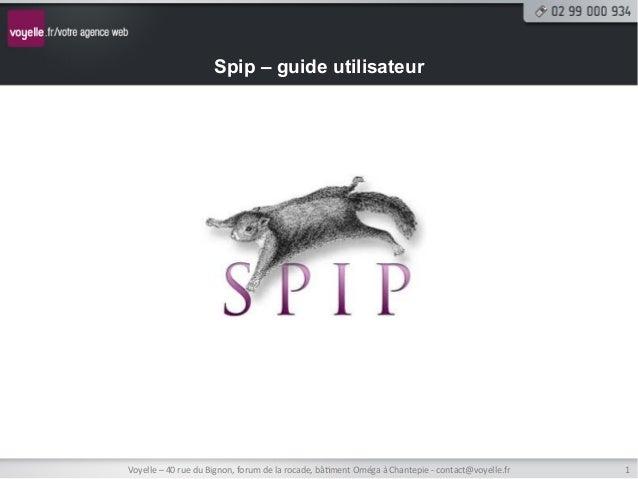 Formation rédacteur/administrateur de site sous SPIP