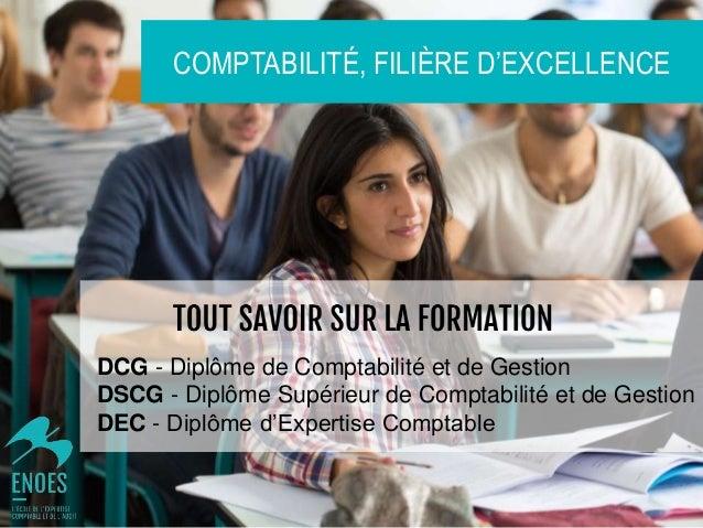 DCG - Diplôme de Comptabilité et de Gestion DSCG - Diplôme Supérieur de Comptabilité et de Gestion DEC - Diplôme d'Experti...