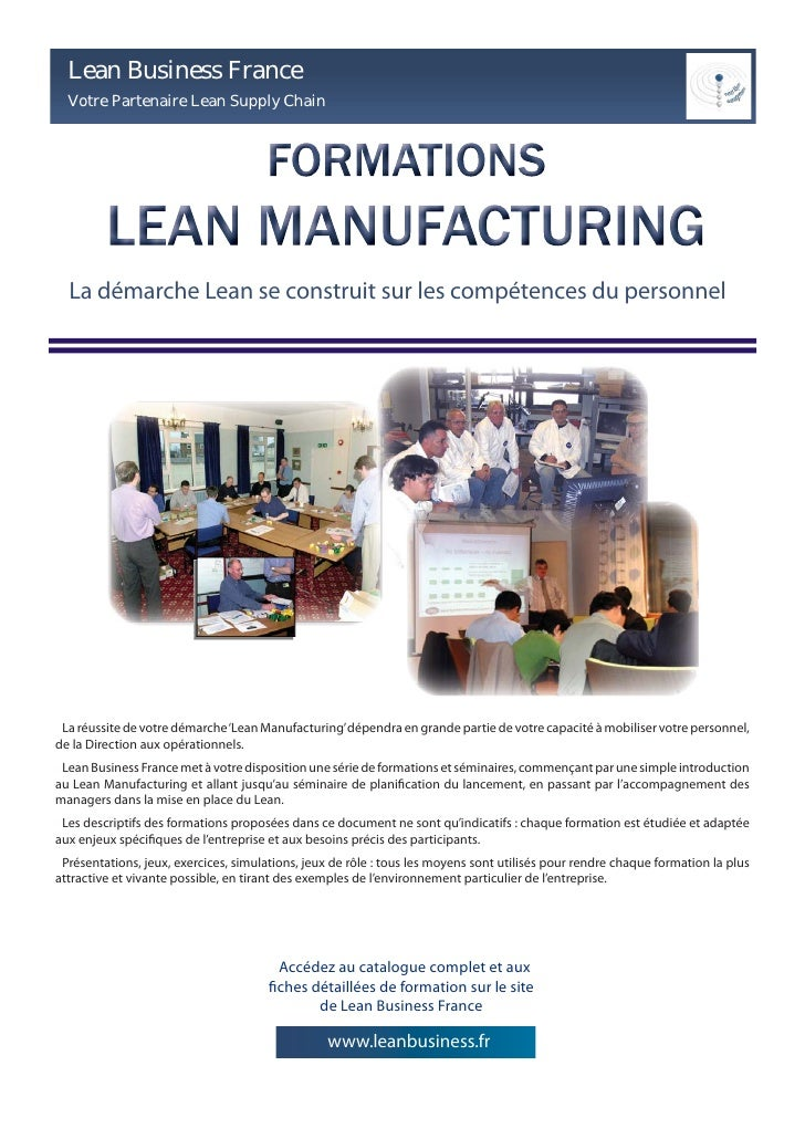Formations Lean Manufacturing