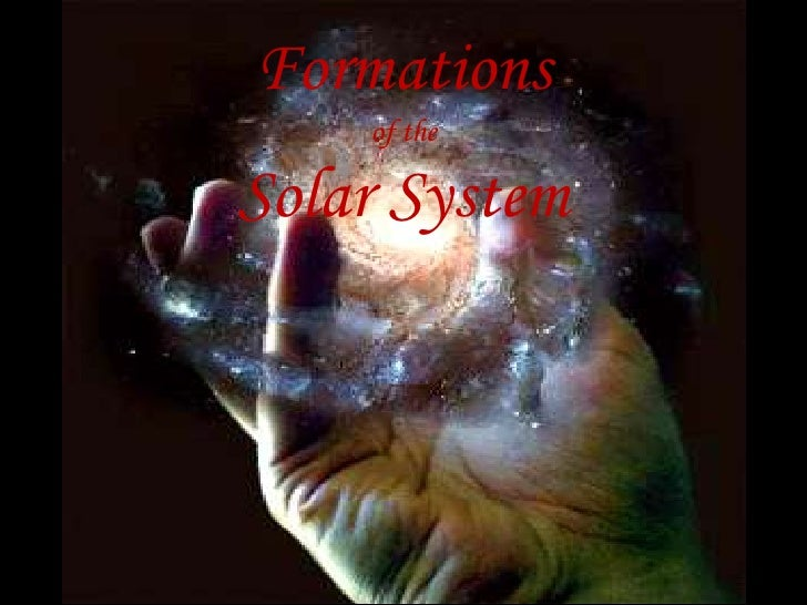 Formations of the solar system final- Sophie