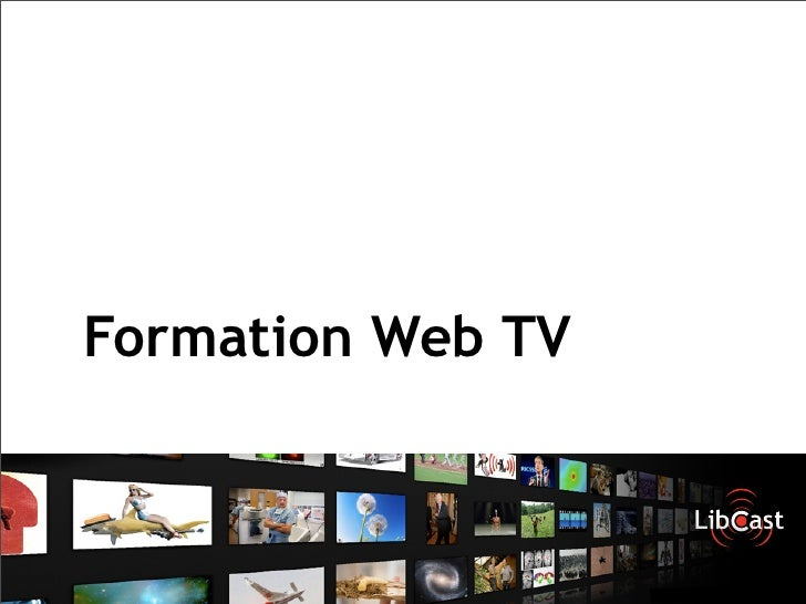 Formation Web TV
