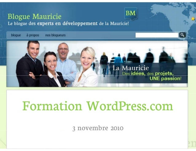 Formation WordPress.comFormation WordPress.com 3 novembre 20103
