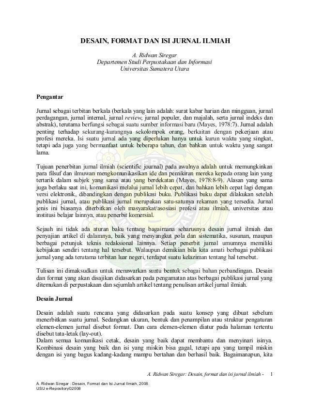 format jurnal ilmiah