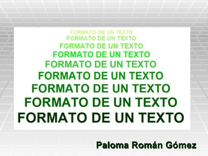 Formato de texto