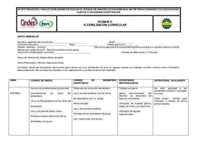 APOYO PEDAGÓGICO PARA LOS ESTABLECIMIENTOS EDUCATIVOS OFICIALES DEL MUNICIPIO DE DOSQUEBRADAS QUE REPORTAN ESTUDIANTES CON...