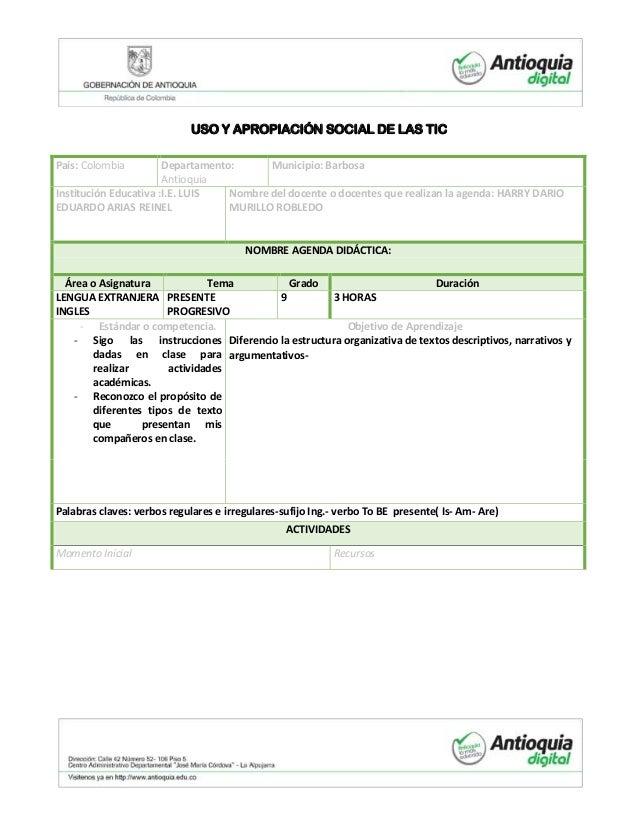 USO Y APROPIACIÓN SOCIAL DE LAS TICPaís: Colombia Departamento:AntioquiaMunicipio: BarbosaInstitución Educativa :I.E. LUIS...
