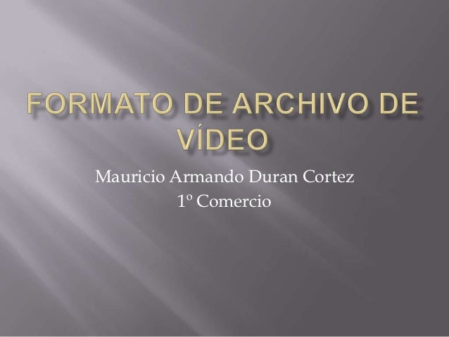 Mauricio Armando Duran Cortez          1º Comercio