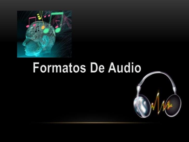 Formato de audio