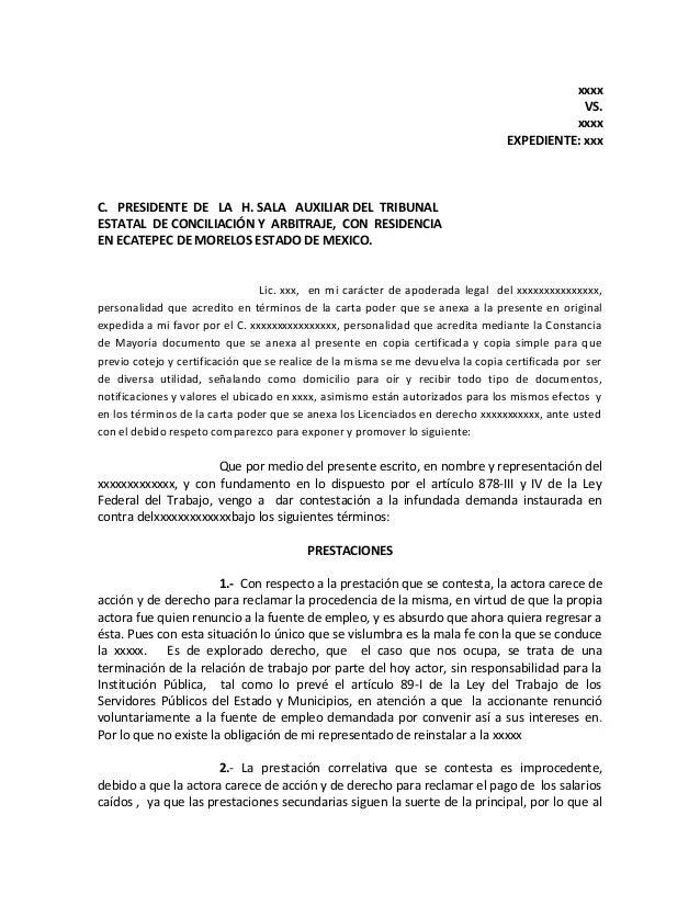 xxxx VS. xxxx EXPEDIENTE: xxx C. PRESIDENTE DE LA H. SALA AUXILIAR DEL TRIBUNAL ESTATAL DE CONCILIACIÓN Y ARBITRAJE, CON R...