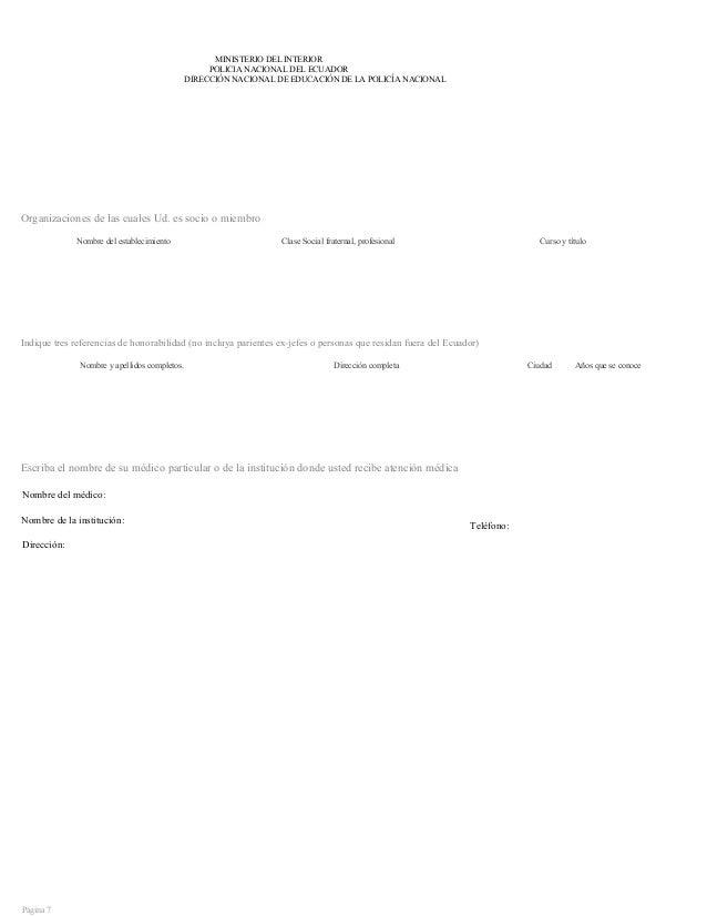 Formato del mdi ministerio del interior ecuador for Pagina del ministerio del interior