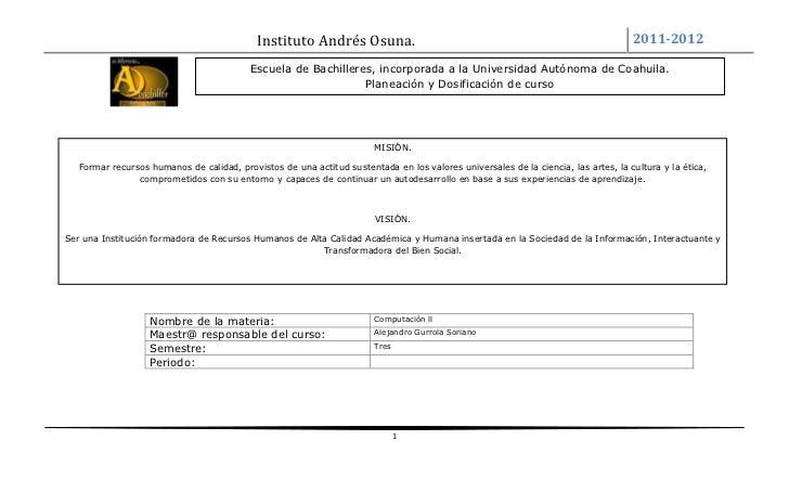 Formato de planeación y encuadre agto ene 2011 - 2012