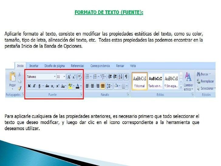 Formato de texto y párrafo - Word 2007