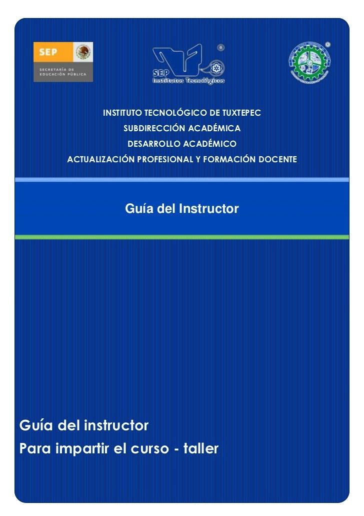 Formato guia del_instructor_2012