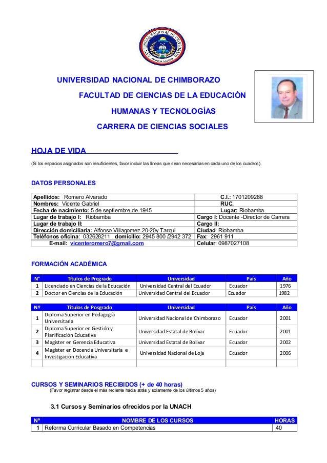 UNIVERSIDAD NACIONAL DE CHIMBORAZOFACULTAD DE CIENCIAS DE LA EDUCACIÓNHUMANAS Y TECNOLOGÍASCARRERA DE CIENCIAS SOCIALESHOJ...