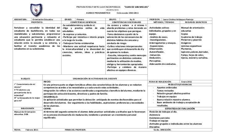 Formato planeación semestral