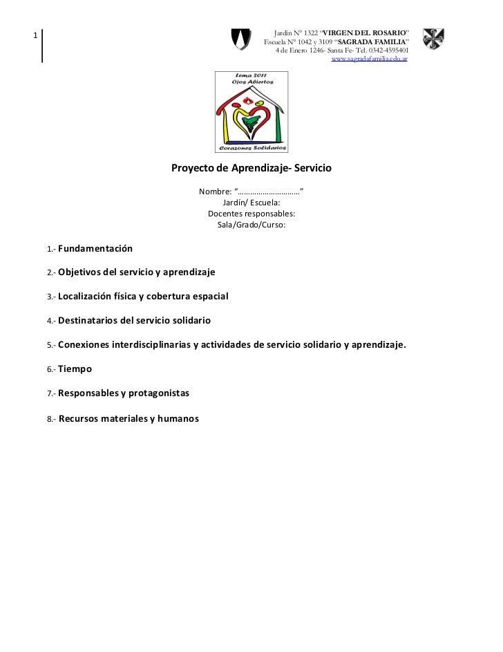 Formato presentación proyectos de as