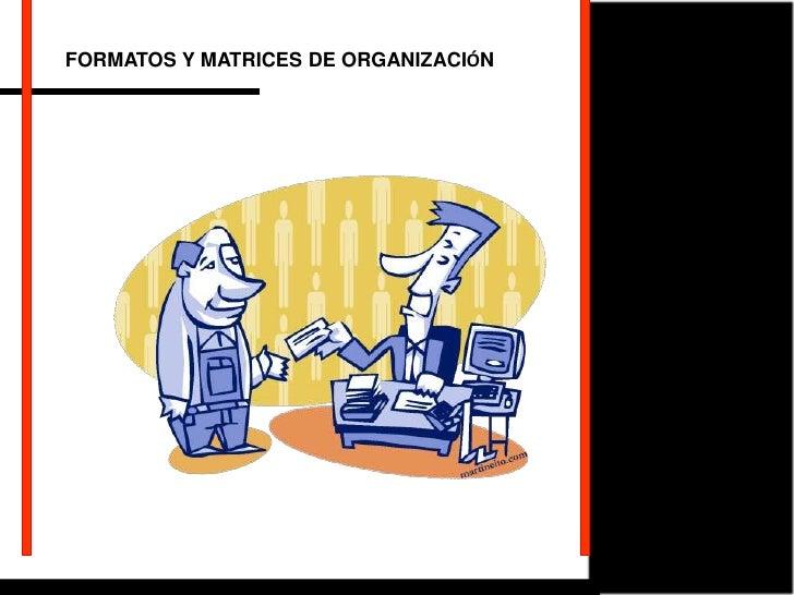 FORMATOS Y MATRICES DE ORGANIZACIÓN