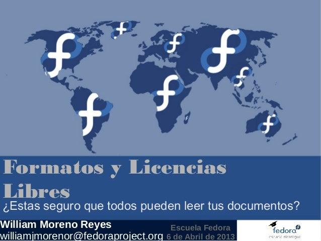 Formatos y Licencias Libres