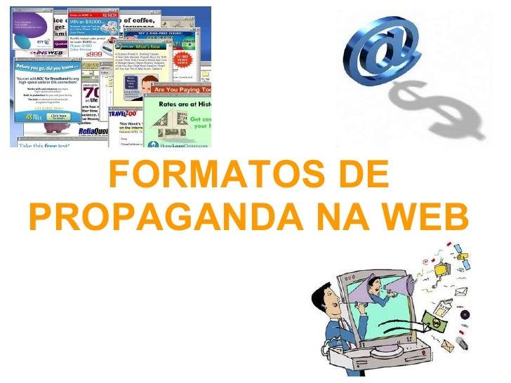 Formatos De Propaganda Na Web