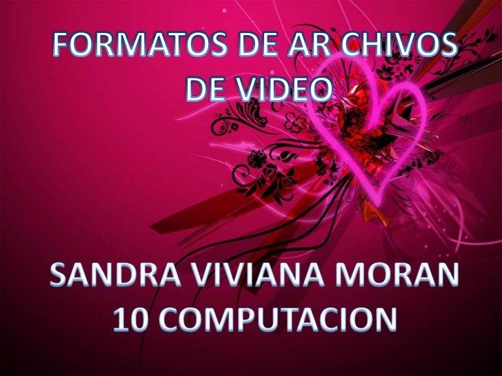  formato estándar para almacenar video digital. AVI puede contener video con una calidad excelente. Sin embargo el peso ...