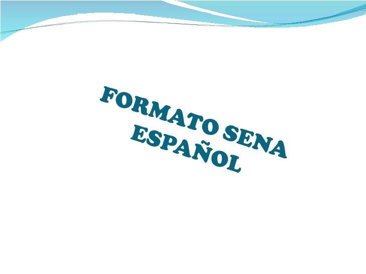 Formato Sena  Ingles