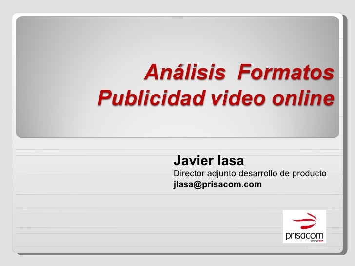 Formatos Publicidad  Video Online