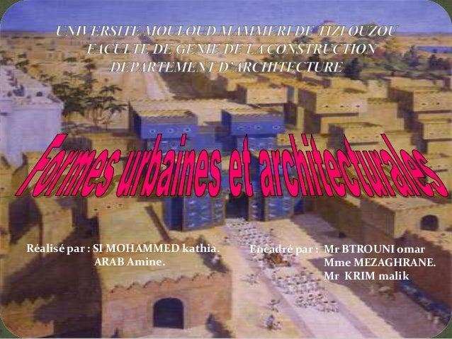Formes urbaines et architecturales