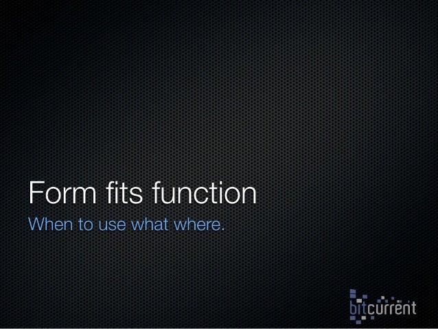 Form Fits Function: Choosing IaaS, Pa