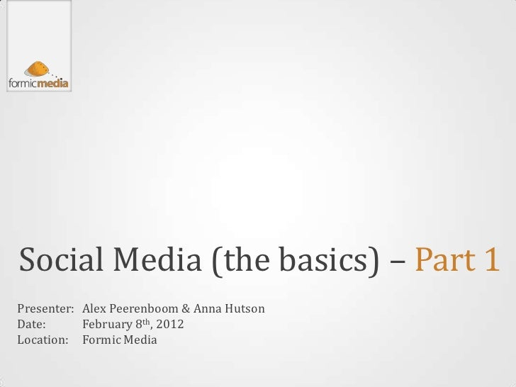 Understanding the Basics of Social Media