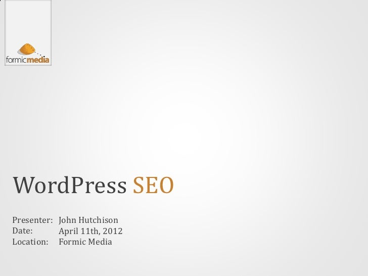 The Basics of WordPress SEO