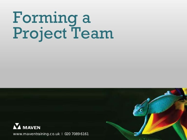 Forming aProject Teamwww.maventraining.co.uk І 020 7089 6161