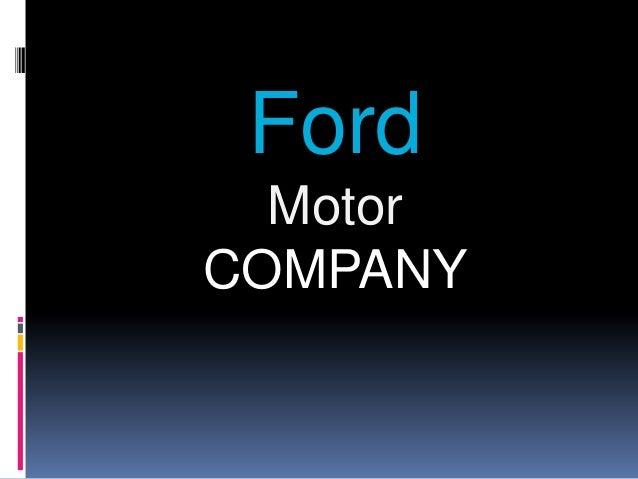 Ford  MotorCOMPANY