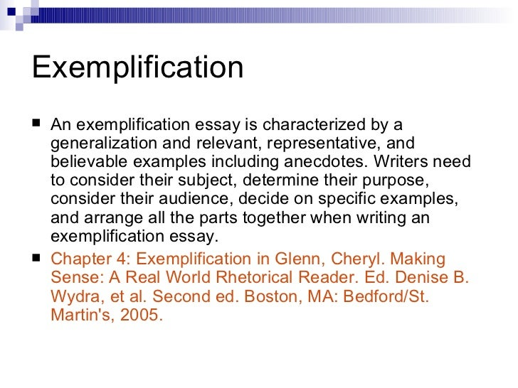 exemplification