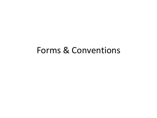Forms & Conventions