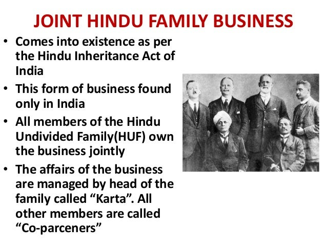 joint hindu family The entire law relating to hindu undivided family (huf)  the right accrued to a daughter in the property of a joint hindu family governed by the mitakshara law,.